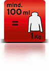 100 ml für 1Kg