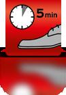5 Minuten einwirken lassen