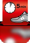 5 Minuten einwirken lassen (Sportschuh) - EN